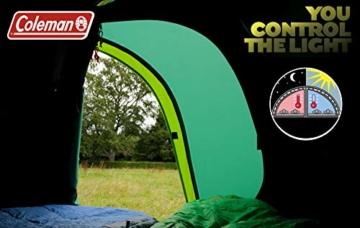 Coleman Chimney Rock 3 Plus Zelt, 3 Personen Tunnelzelt, 3 Mann Camping-Zelt, große abgedunkelte Schlafkabine blockiert bis zu 99% des Tageslichts, wasserdicht WS 4.500 mm - 8