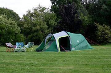 Coleman Chimney Rock 3 Plus Zelt, 3 Personen Tunnelzelt, 3 Mann Camping-Zelt, große abgedunkelte Schlafkabine blockiert bis zu 99% des Tageslichts, wasserdicht WS 4.500 mm - 9