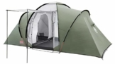 Coleman Zelt Ridgeline 4 Plus, 4 Mann Zelt, 4 Personen Vis-A-Vis Tunnelzelt, Campingzelt, Kuppelzelt mit Sonnendach, wasserdicht WS 3.000mm - 1