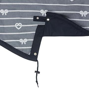 derbe Damen Regenmantel Friesennerz Rope Regenjacke, Farbe:Navy, Größe:36 - 3