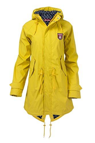 Derbe Damen Regenmantel Travel Anchor Friese gelb blau - 38 - 1