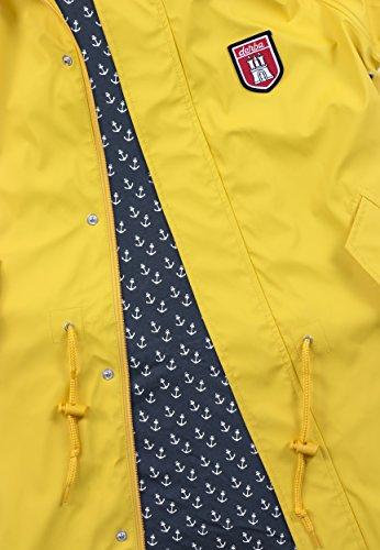 Derbe Damen Regenmantel Travel Anchor Friese gelb blau - 38 - 4