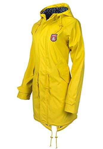 Derbe Damen Regenmantel Travel Anchor Friese gelb blau - 38 - 5