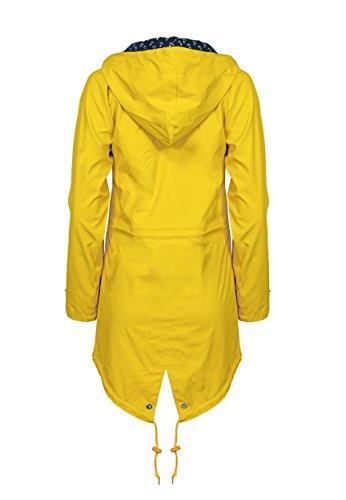 Derbe Damen Regenmantel Travel Anchor Friese gelb blau - 38 - 6