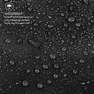 Dokon Ampelschirm Abdeckung mit Seitlicher Spanngurt, Sonnenschirm Schutzhülle für Große Schirm 2 bis 4m, Wasserdichte, Winddichte, UV-beständig, 420D Oxford Gewebe Ampelschirm hülle (280x40/81/50cm) - 4