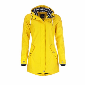 Dry Fashion Damen-Regenmantel Kiel Farbe gelb, Größe 46 - 1