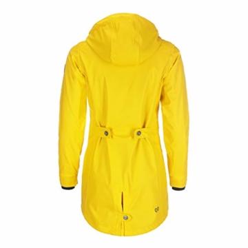Dry Fashion Damen-Regenmantel Kiel Farbe gelb, Größe 46 - 4