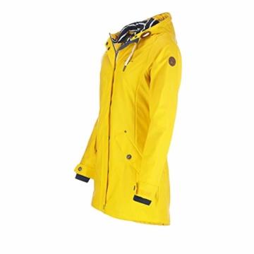 Dry Fashion Damen-Regenmantel Kiel Farbe gelb, Größe 46 - 6