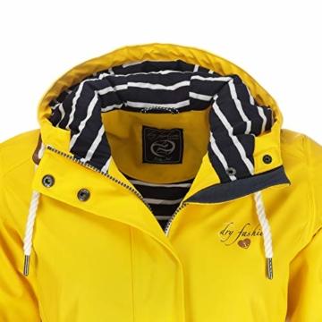 Dry Fashion Damen-Regenmantel Kiel Farbe gelb, Größe 46 - 7