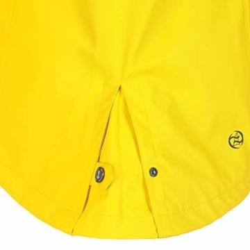 Dry Fashion Damen-Regenmantel Kiel Farbe gelb, Größe 46 - 9
