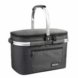 Eono by Amazon - Picknickkorb 22L, isolierter Korb, Kühltasche für den Außenbereich, Dunkelgrau, M - 1