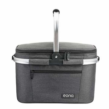 Eono by Amazon - Picknickkorb 22L, isolierter Korb, Kühltasche für den Außenbereich, Dunkelgrau, M - 4