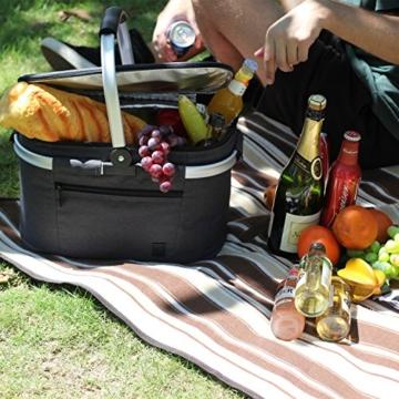 Eono by Amazon - Picknickkorb 22L, isolierter Korb, Kühltasche für den Außenbereich, Dunkelgrau, M - 5
