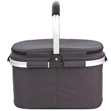 Eono by Amazon - Picknickkorb 22L, isolierter Korb, Kühltasche für den Außenbereich, Dunkelgrau, M - 6