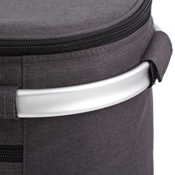 Eono by Amazon - Picknickkorb 22L, isolierter Korb, Kühltasche für den Außenbereich, Dunkelgrau, M - 7