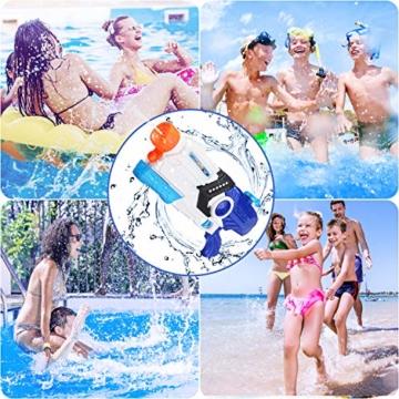 EPCHOO Wasserpistole, 2000ml Groß Water Blaster Water Gun Spielzeug mit 8-10 Meter Reichweite für Party Blaster Badestrand Sommer Pool Wasserschütze Wasserspielzeug - 2