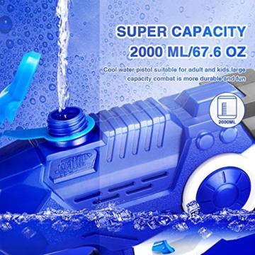 EPCHOO Wasserpistole, 2000ml Groß Water Blaster Water Gun Spielzeug mit 8-10 Meter Reichweite für Party Blaster Badestrand Sommer Pool Wasserschütze Wasserspielzeug - 4