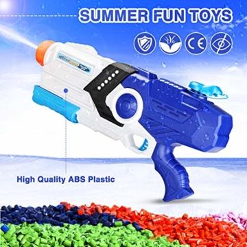 EPCHOO Wasserpistole, 2000ml Groß Water Blaster Water Gun Spielzeug mit 8-10 Meter Reichweite für Party Blaster Badestrand Sommer Pool Wasserschütze Wasserspielzeug - 5