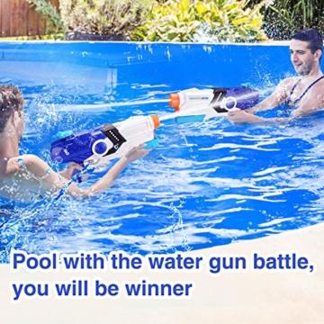 EPCHOO Wasserpistole, 2000ml Groß Water Blaster Water Gun Spielzeug mit 8-10 Meter Reichweite für Party Blaster Badestrand Sommer Pool Wasserschütze Wasserspielzeug - 7