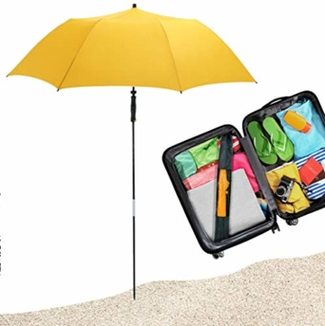 FARE Reise-Sonnenschirm Travelmate Camper UV Schutz 50+ TÜV-Zertifikat für Koffer Flugzeug Camping Balkon Strand Garten (Grasgrün) - 4