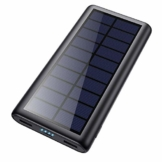 Feob Solar Powerbank 26800mAh, Solarladegerät 【Energiesparende Version】 Externer Akku Hohe Kapazitat Power Bank Fast Charge Tragbares Ladegerät Akkupack für iPhone, iPad, Samsung Galaxy und mehr - 1