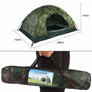 Filfeel Campingzelt, Outdoor Camping Zelt Camouflage 2 Personen UV Schutz wasserdichte Familie Reise Dome Wasserdicht Festival Wandern Klappzelte mit Tragbaren Tragetasche - 5