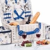 GOODS+GADGETS Picknickkorb für 4 Personen Weidenkorb für Picknick mit Picknickdecke und Kühltasche - 1