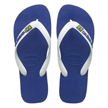 Havaianas Unisex-Erwachsene Brasil Logo Zehentrenner, Blau (Marine Blue), 33/34 EU - 3