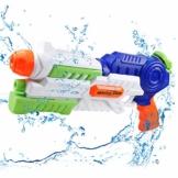 infinitoo Wasserpistole Spritzpistole Water Gun mit 1000ml Wassertank, 8-10 Meter Reichweite Blaster Spielzeug für Kinder, Erwachsene Party Garten Strand Pool etc. - 1