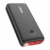 JIGA Powerbank 30000mAh Externer Akku Tragbares Ladegerät USB C Power Bank mit Taschenlampe, 3 Eingängen und 3 Ausgängen Handy-Ladegerät Akku Kompatibel mit iPhone, Samsung, Huawei, iPad usw - 1