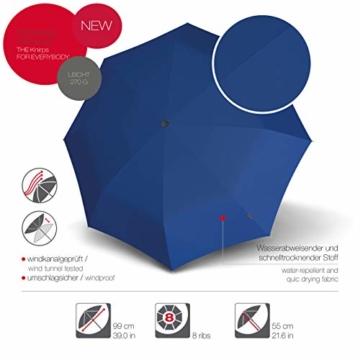 Knirps Taschenschirm A.050 Medium Manual – Kompakt und sturmfest – Stabil – Windproof – Blue - 2