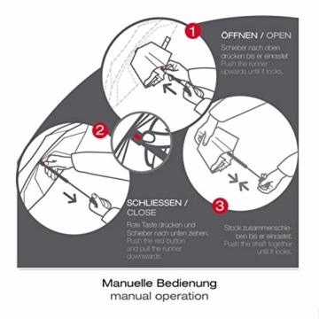 Knirps Taschenschirm A.050 Medium Manual – Kompakt und sturmfest – Stabil – Windproof – Blue - 5