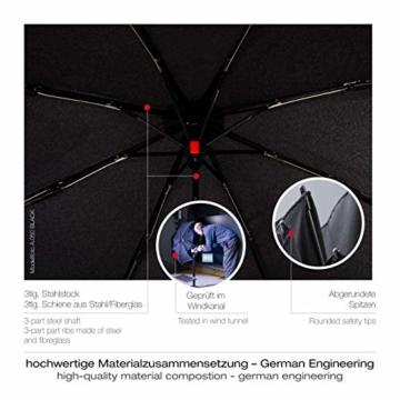 Knirps Taschenschirm A.050 Medium Manual – Kompakt und sturmfest – Stabil – Windproof – Blue - 6