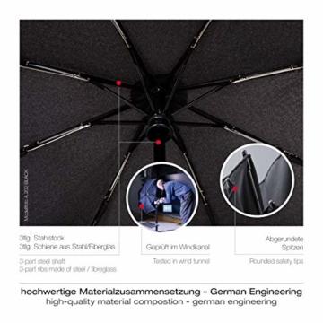 Knirps Taschenschirm A.200 Medium Duomatic – Kompakt und sturmfest – Windkanal getestet – Blue - 5