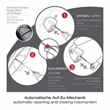 Knirps Taschenschirm A.200 Medium Duomatic – Kompakt und sturmfest – Windkanal getestet – Blue - 6