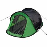 Laneetal Campingzelt Wurfzelt 2-3 Personen Zelt Sekundenzelt Camping Festival Outdoor Wassefestes Zelt 3 Jahreszeiten 145x240x100cm Grün - 1