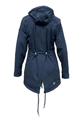 MADSea Damen Regenmantel Friesennerz dunkelblau wasserdicht, Farbe:Navy, Größe:52 - 2