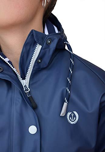 MADSea Damen Regenmantel Friesennerz dunkelblau wasserdicht, Farbe:Navy, Größe:52 - 4