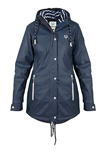 MADSea Damen Regenmantel Friesennerz dunkelblau wasserdicht, Farbe:Navy, Größe:52 - 1