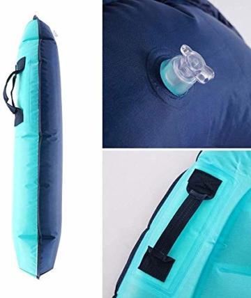 maimai Aufblasbares Surfbrett für Wasserrutschen, Leichtes Bodyboard, Kinder-Bodyboard mit Griffen, Bodyboard-Surfbrett, Board für Schwimmbad, Surfbretter Schwimmen (Blau) - 2