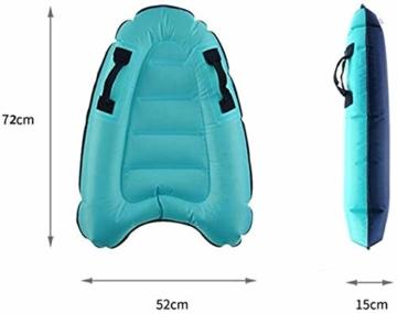 maimai Aufblasbares Surfbrett für Wasserrutschen, Leichtes Bodyboard, Kinder-Bodyboard mit Griffen, Bodyboard-Surfbrett, Board für Schwimmbad, Surfbretter Schwimmen (Blau) - 3