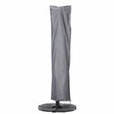 Mehr Garten Ampelschirm Schutzhülle/Abdeckhaube - Premium/wasserdicht/Polyester Oxford 600D grau - Schirmgestell gebogen/Größe XL/Durchmesser 350-450cm - 1