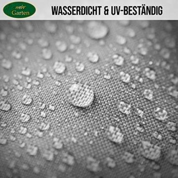 Mehr Garten Ampelschirm Schutzhülle/Abdeckhaube - Premium/wasserdicht/Polyester Oxford 600D grau - Schirmgestell gebogen/Größe XL/Durchmesser 350-450cm - 5