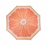 Meinposten Sonnenschirm Ø 155 cm Strandschirm knickbar Schirm Balkonschirm Gartenschirm (Orange) - 1