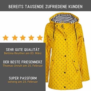 Michael Heinen Regenmantel Damen Regenjacke - Friesennerz Gelb 42 - Parka Jacke Wasserdicht Winddicht - 3