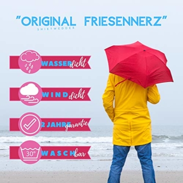 Michael Heinen Regenmantel Damen Regenjacke - Friesennerz Gelb 42 - Parka Jacke Wasserdicht Winddicht - 4