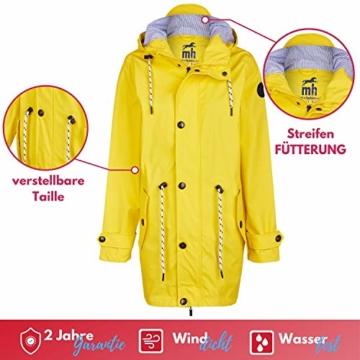 Michael Heinen Regenmantel Damen Regenjacke Wasserdicht - Friesennerz Gelb XL - Outdoor Jacke Parka Winddicht - 2