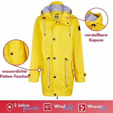 Michael Heinen Regenmantel Damen Regenjacke Wasserdicht - Friesennerz Gelb XL - Outdoor Jacke Parka Winddicht - 3