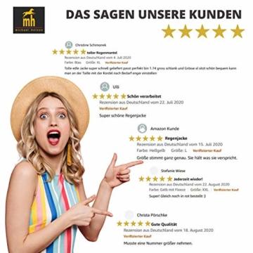 Michael Heinen Regenmantel Damen Regenjacke Wasserdicht - Friesennerz Gelb XL - Outdoor Jacke Parka Winddicht - 6
