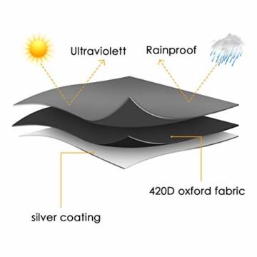 MOHOO Sonnenschirm Hülle mit Stab, Ampelschirm Schutzhülle 2 bis 4 M Große Sonnenschirm Abdeckung,UV-Schutz, durchgängiger Reißverschluss,Winddicht und Schneesicher,Oxford Gewebe - 4